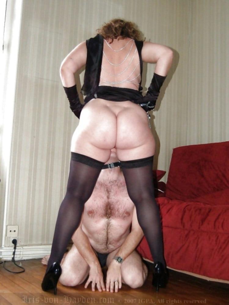 Bbw mature femdom mistress latex leather strapon