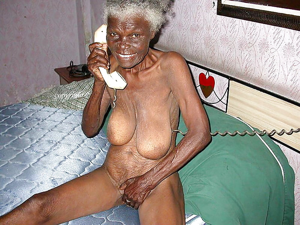 Pussy naked old black grandmother showing