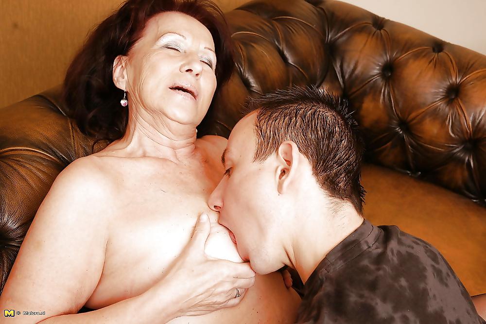 Mature Woman Seduces Young Man