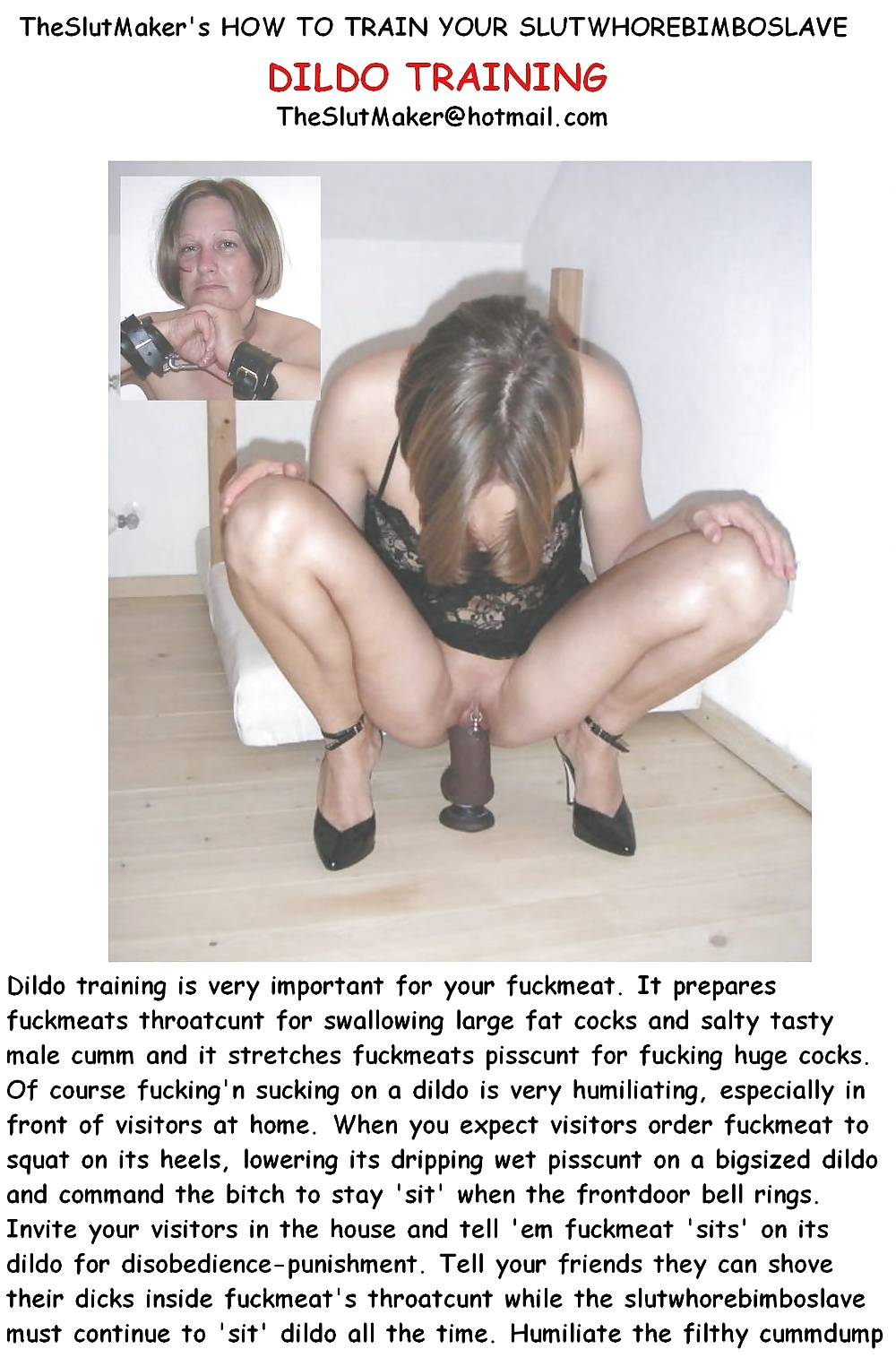 Magnificent dildo slut training