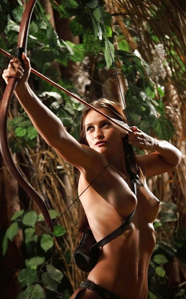 Naked bow hunting