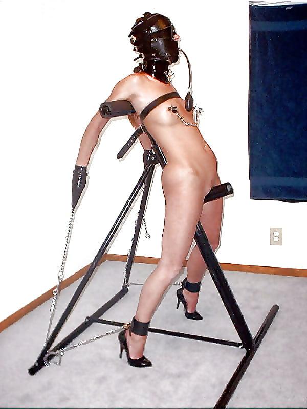 Sexy female furniture bondage pics pussy