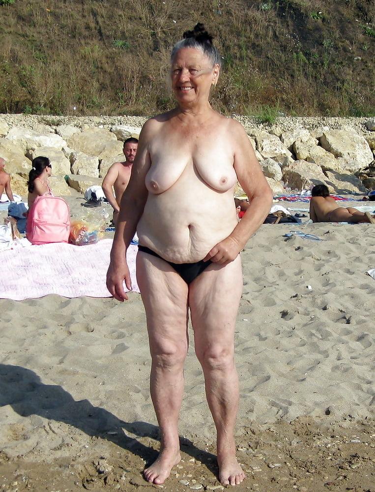 Grandma undresses and hugs her neighbor