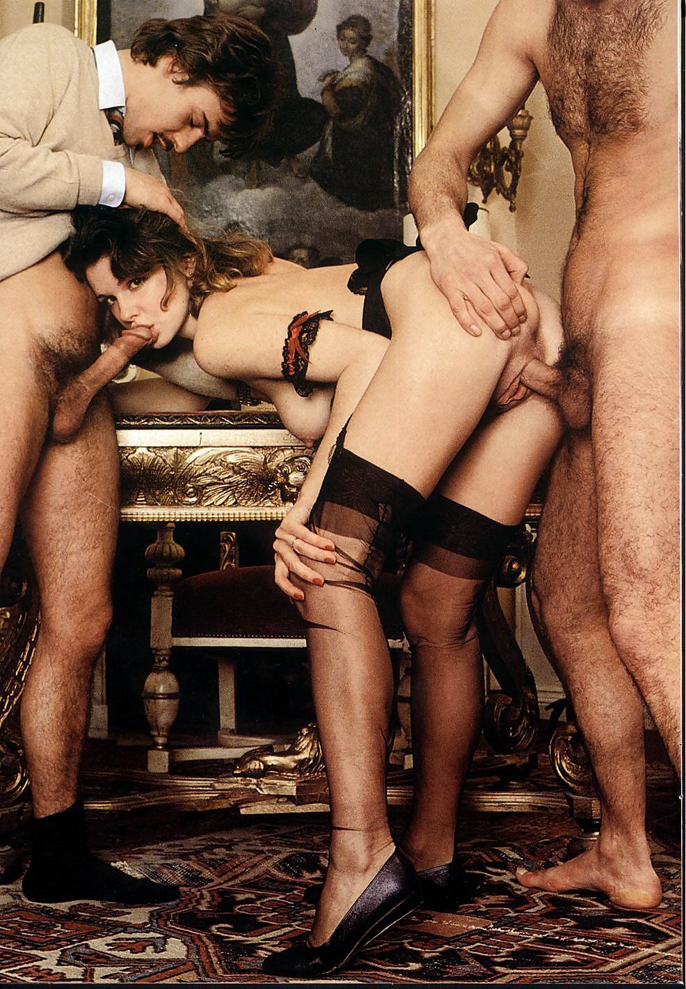 Фото красивых ретро порно групповуха анал пизда