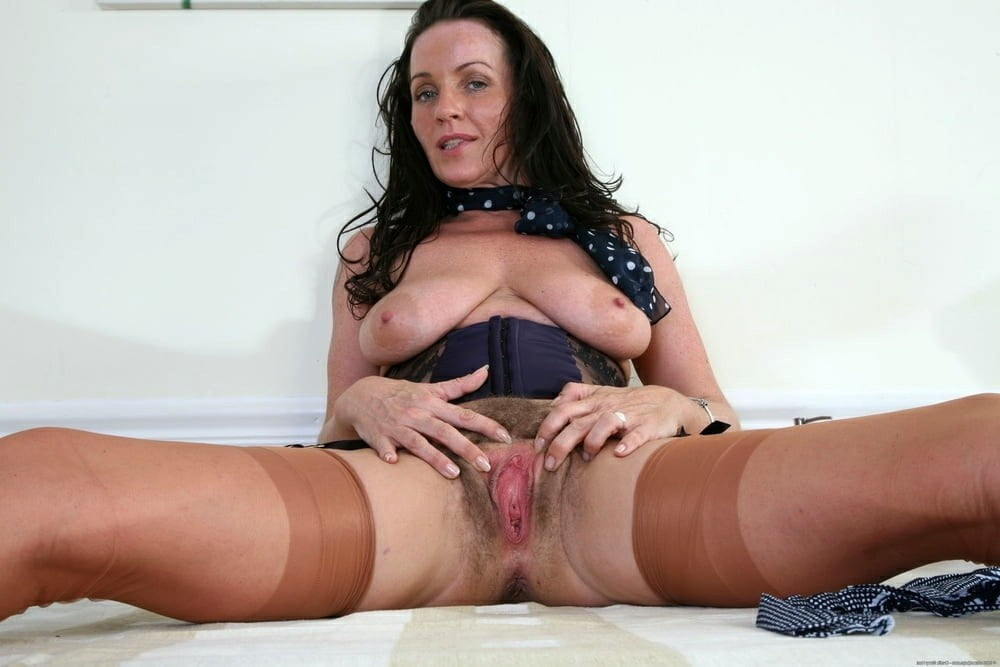 Black stocking lady having lots of fun alone for orgasm