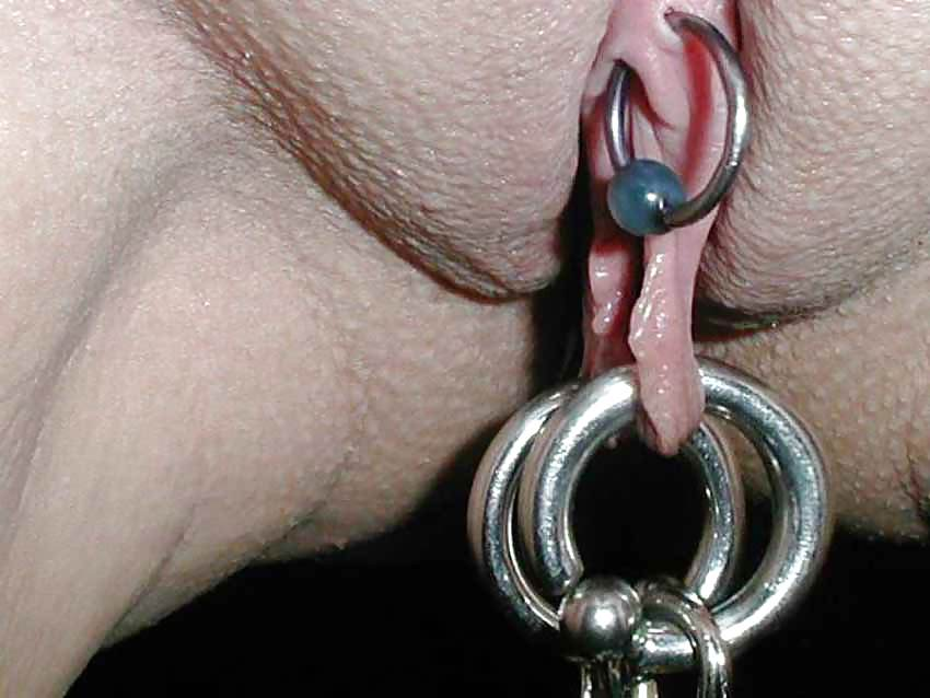 The vertical clitoral hood piercing