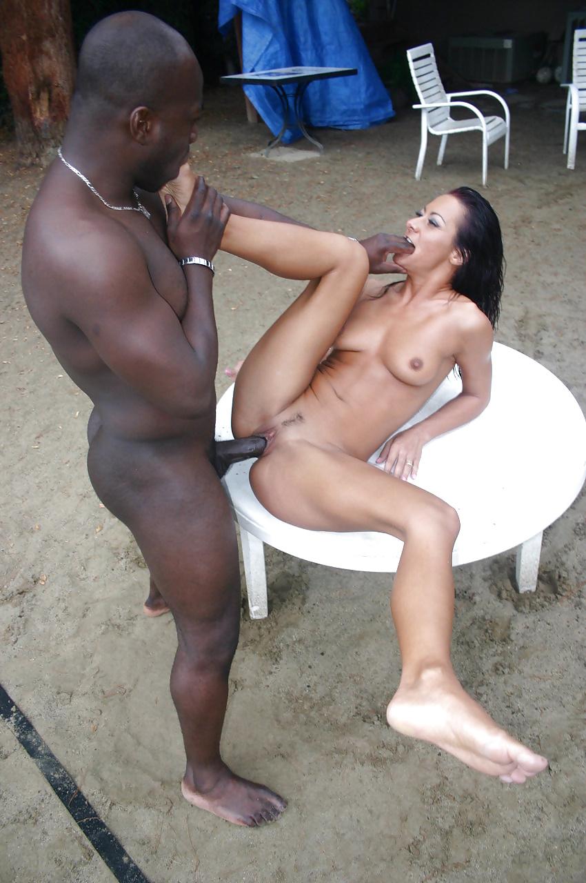 Public interracial sex