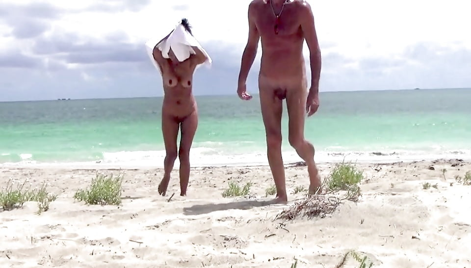 Hot sex on nude beach