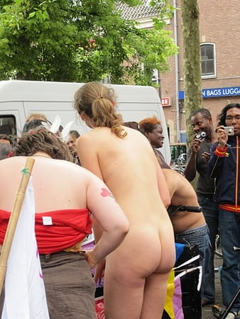 Topless Dutch Naked Bicycle Photo Pic