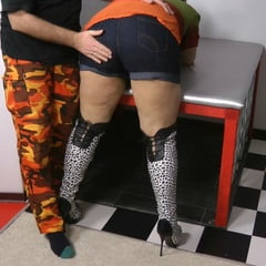 Jeans Spanking In High Boots