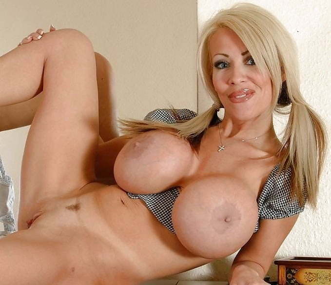 Blonde mature with big tits