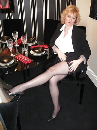 British Mature Solo Stockings