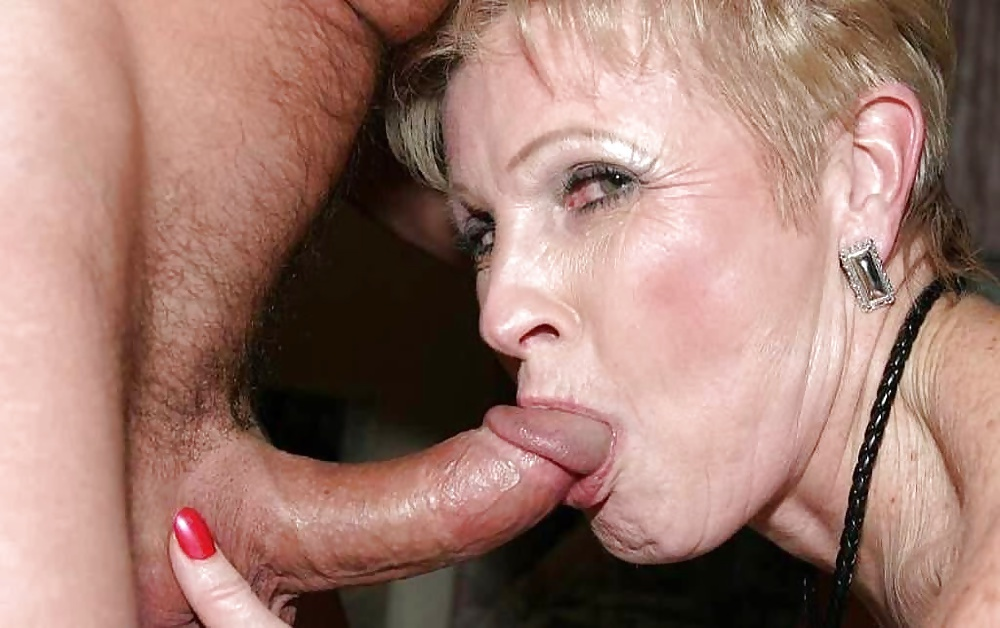 Grandmother With Massive Boobs Sucks Cock