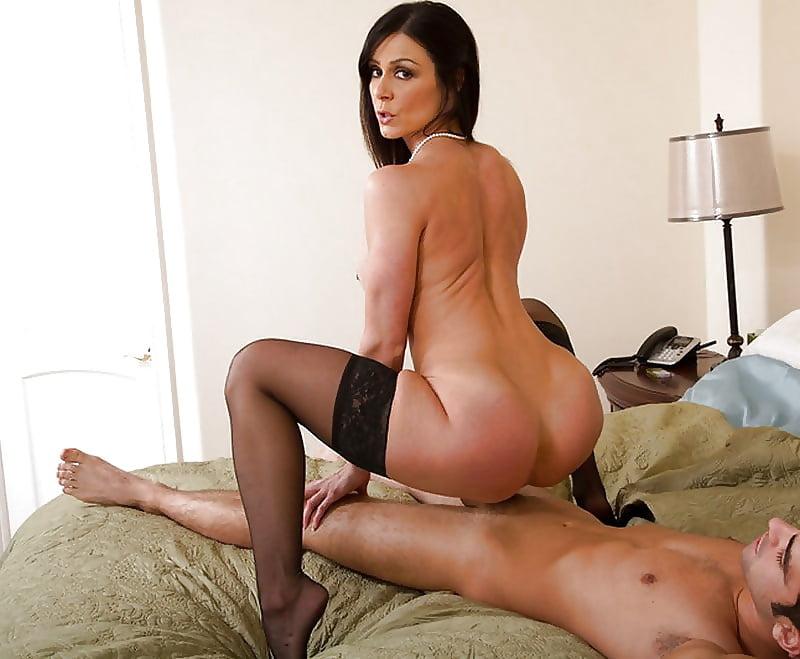 Mom sexy brunette milf loves his huge cock
