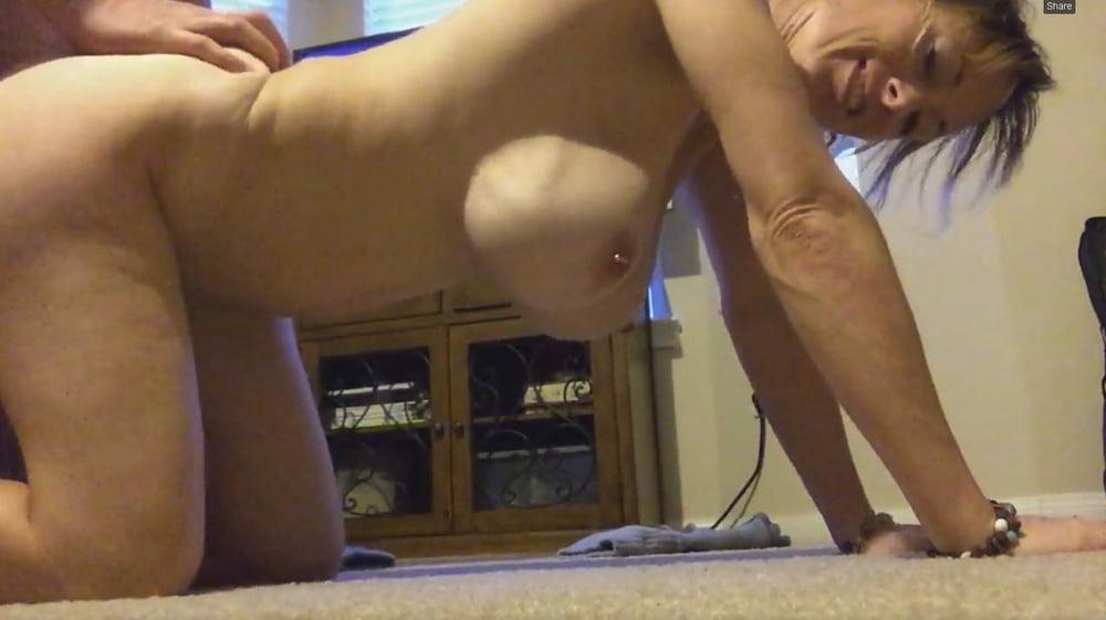 Doggyand hanging tits