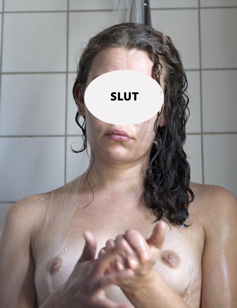 Hairy Pussy Slut Exposed! - 8 Pics