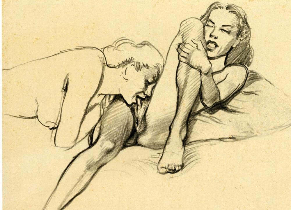 Lesbian pussy licking dildo sex-1097