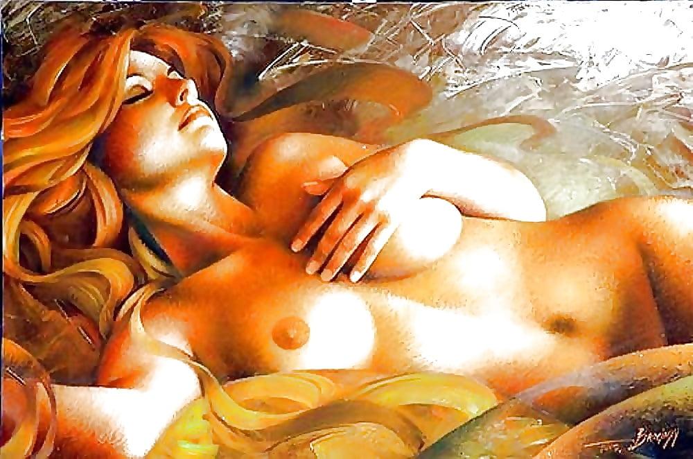 Nude woman maria, oil painting on canvas pittura da filip petrovic