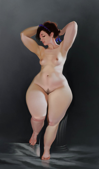Naked pear shaped women