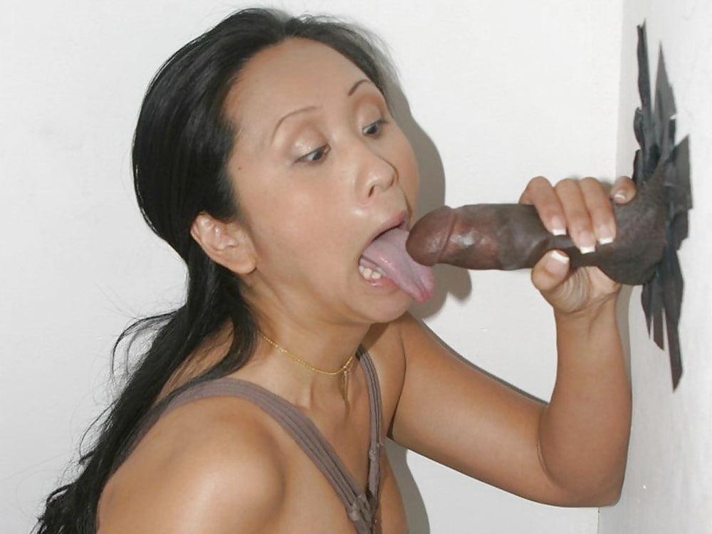 Asian Girls Asian Teen Gives Interracial Gloryhole Blowjob