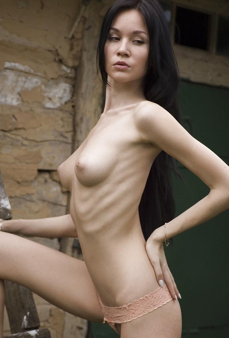 Sexy skinny naked brunette — 14