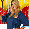 Lovely blonde goalkeeper (this is how they should dress)