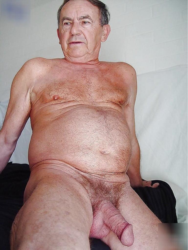 Hairy gay grandpa