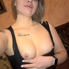 Cute Tattooed Beauty Flashes Her Amazing Tits