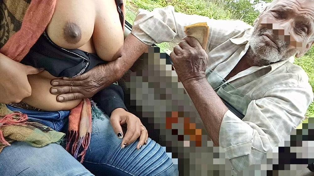 Dirty beggar girl