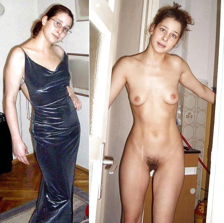 Milf clothed unclothed amateur