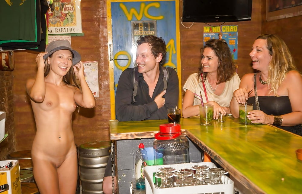 Nudist show in bar and fucking electra playboy