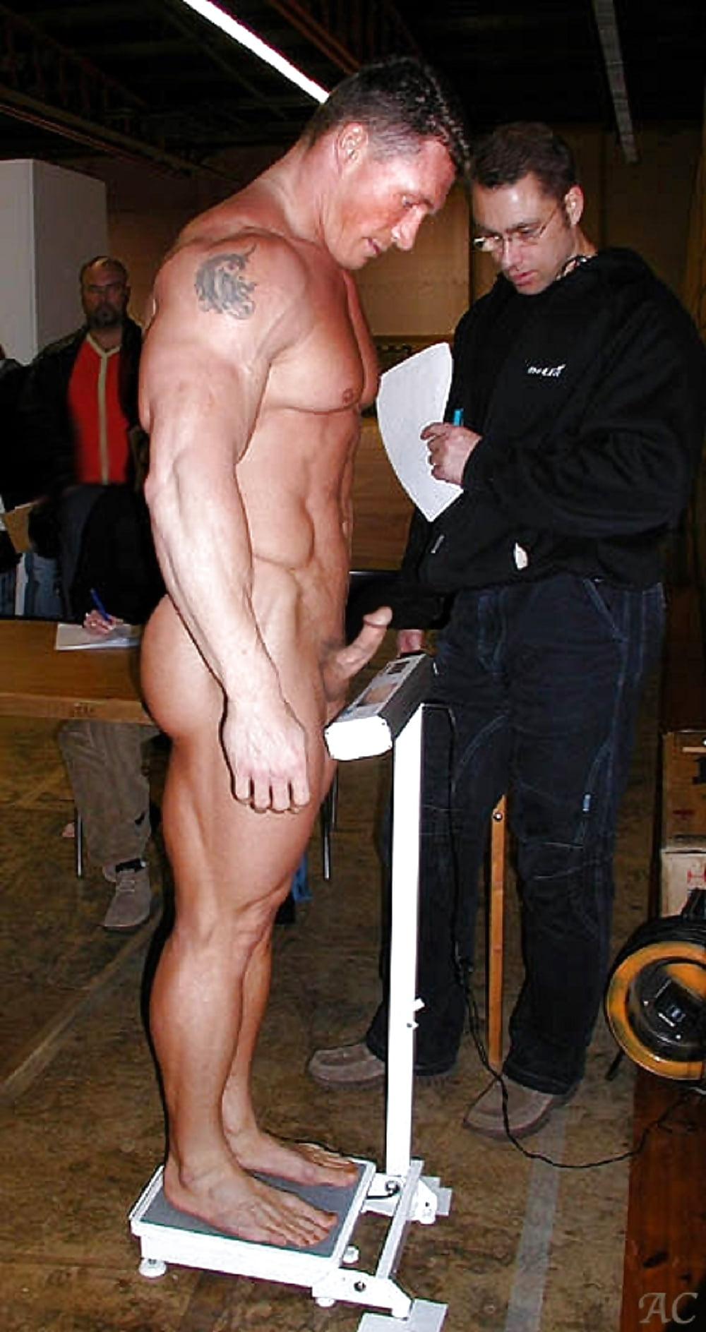 Bulge and naked sports man