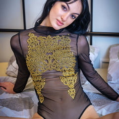 Corinna Armenian Girl With Transparent Bodysuit
