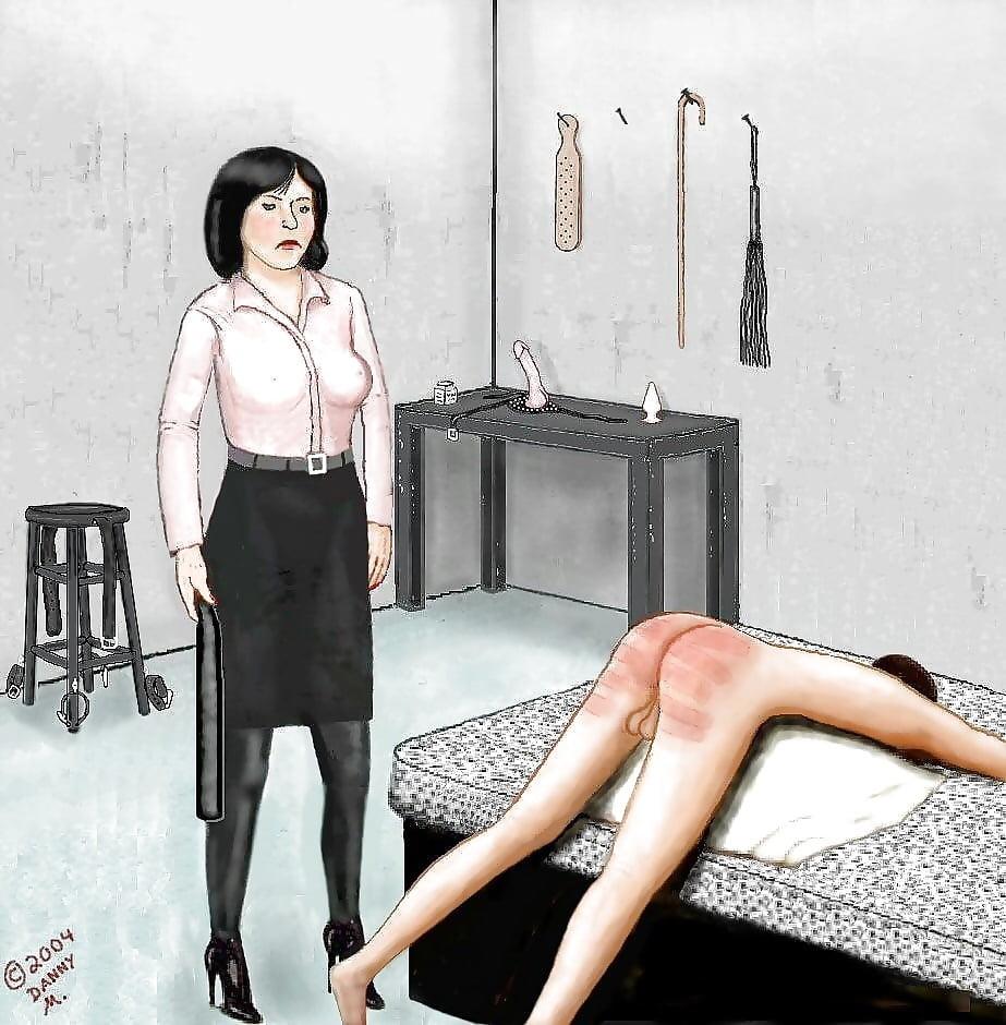 Femdom spanking pic