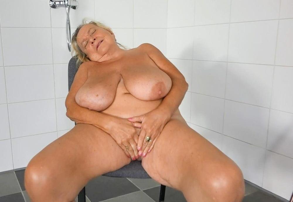Old grandma big boobs
