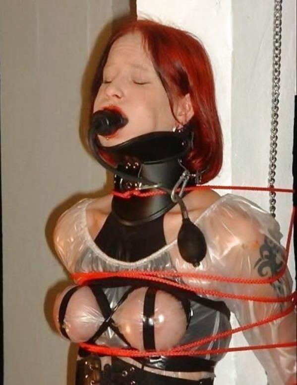 Natural pussy enforced xdress bondage