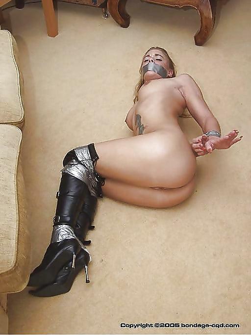 Duct tape bondage porn