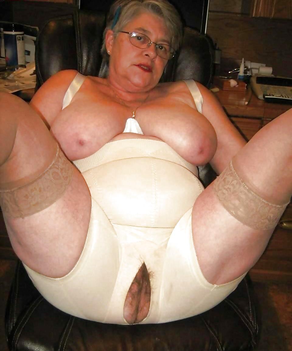 Granny lesbian girdle fitter