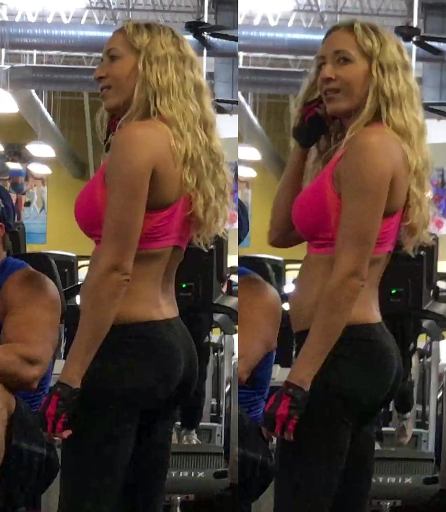 Blonde Gym Bunny Loves to Show Belly.