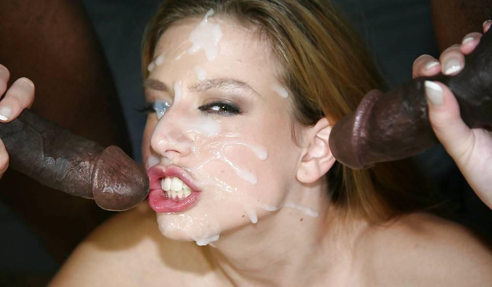 Ginger Milf Realtor Interracial Double Facial