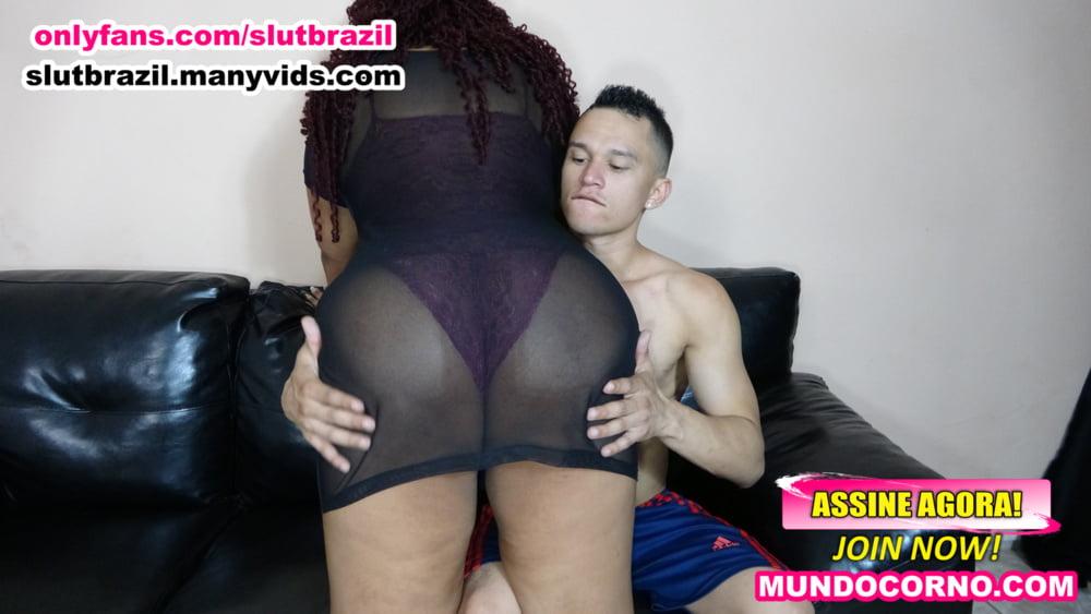 CHUBBY WIFE FUCKS HER HUSBAND'S CUCKOLD HUSBAND - 21 Pics