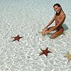 Nudist girl on the perfect beach