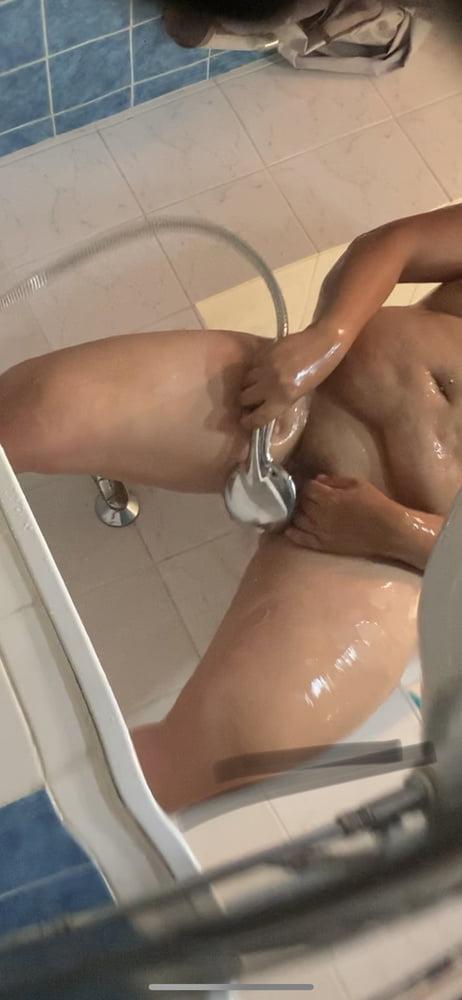 Freundin nackt dusche