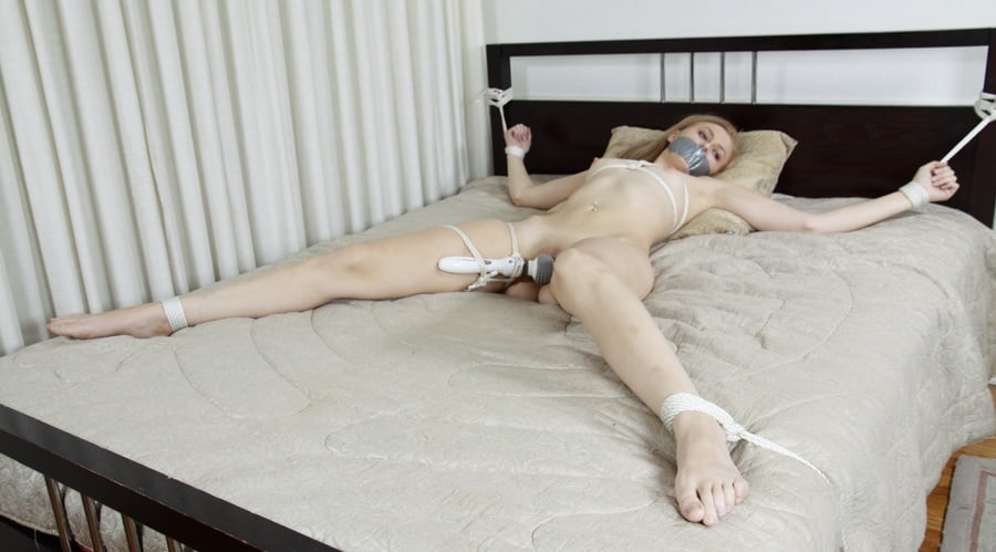 Bride black sex tied man on bed