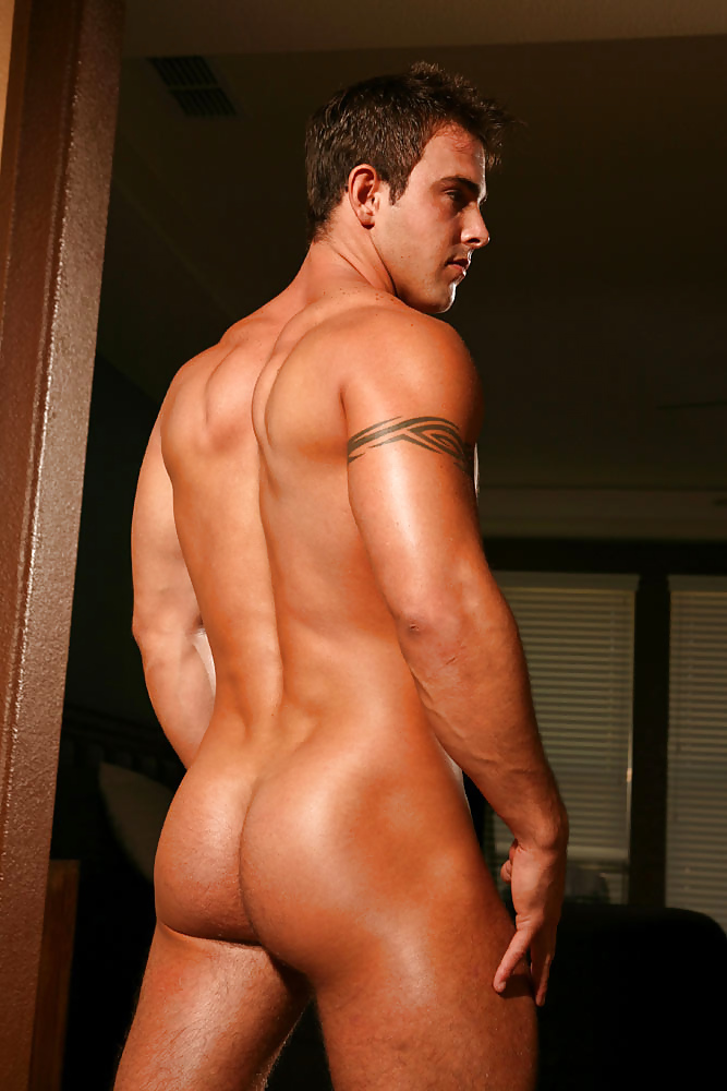 Happy jock posing naked