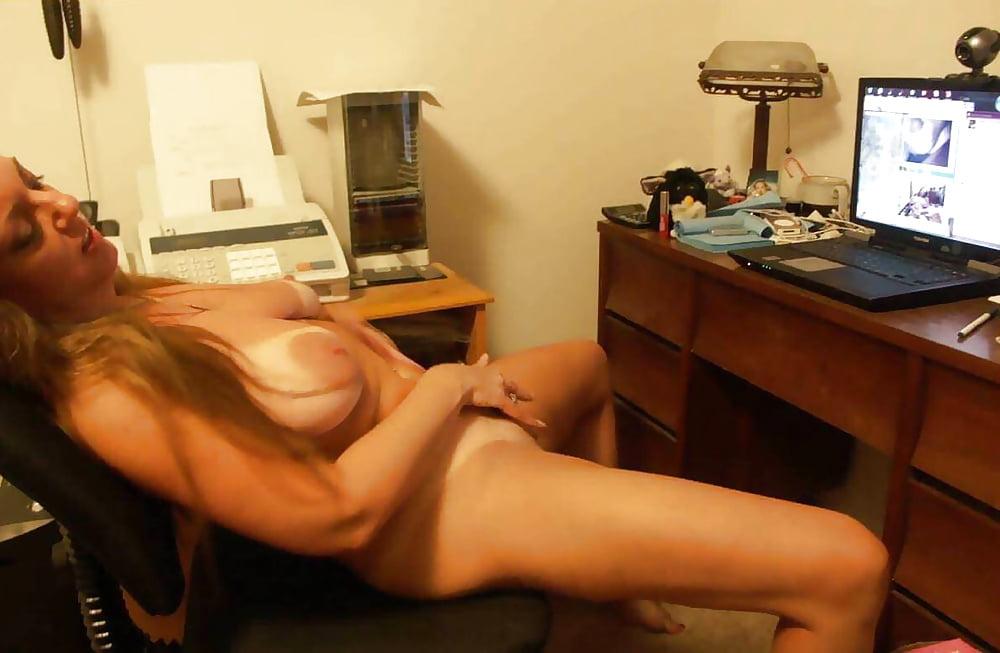 Porn watching woman