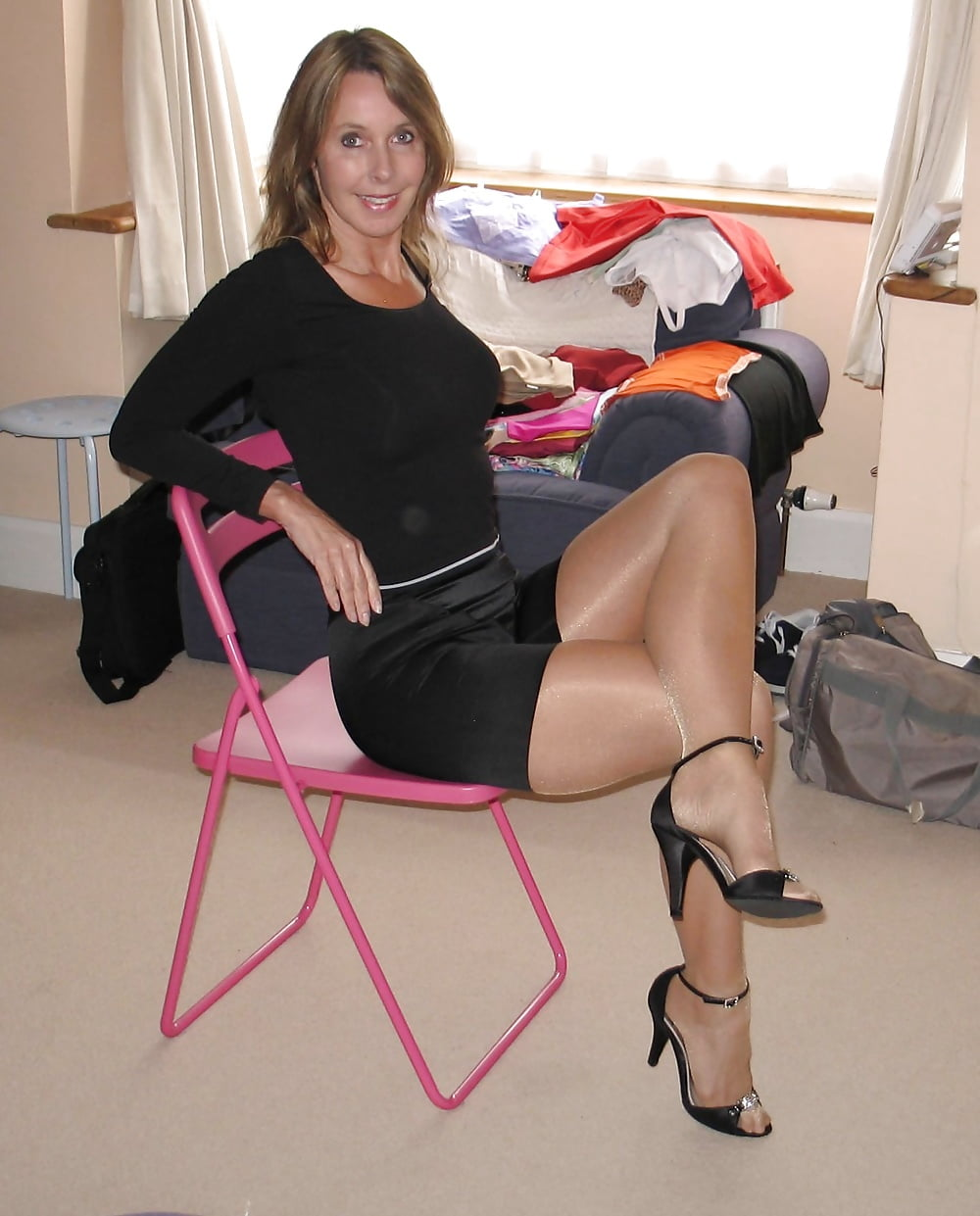 Hot naked moms in stockings