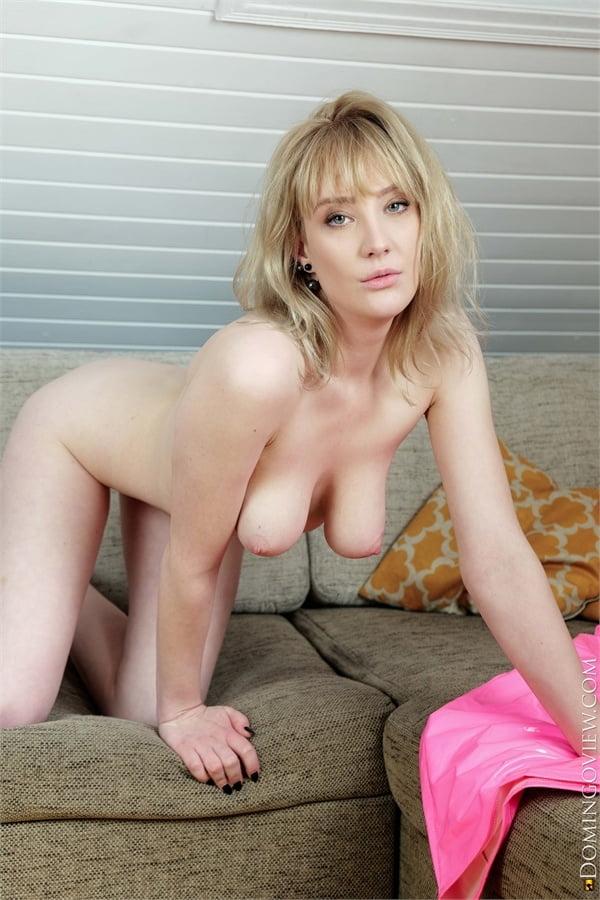 Limona big boobs girl in sexy pink latex dress - 16 Pics