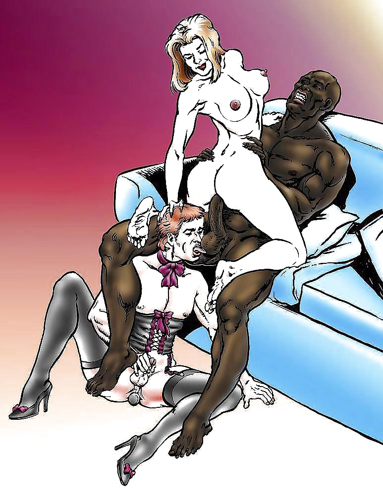 Bisexual interracial sex cartoons — pic 14