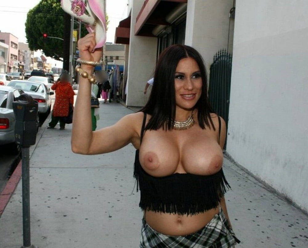 Big Tits Tanned Slave Gangbang In Public